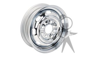 "Wheel Rim, Chrome, 4 Lug, 4?"" wide - 111-601-025 GCH4"