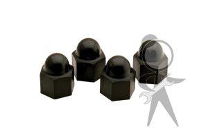 Lug Nut Covers, Black Plastic, Set of 4 - 111-601-173 OEST