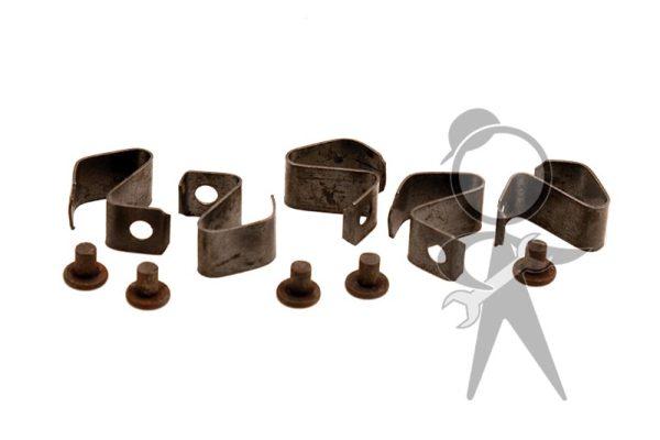 Wheel Hub Cap Clips & Rivets, 10 Pcs Set - 111-698-131