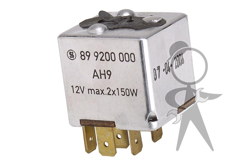 Headlight Dimmer Relay With Attachment Clip on