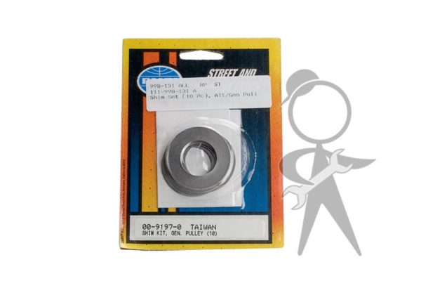 Shim Set (10 Pc), Alt/Gen Pulley - 111-998-131 A