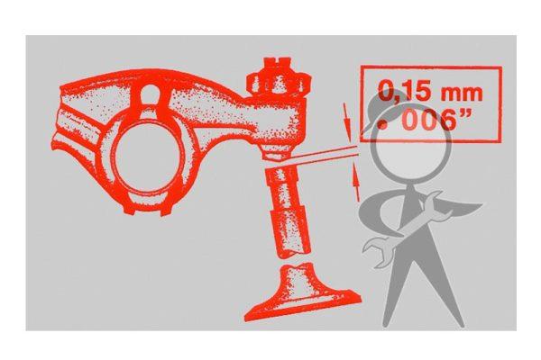 Sticker, Valve Adjustment - 113-001-103