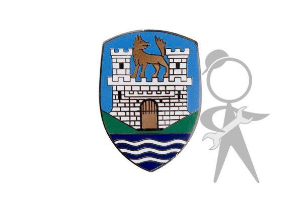 Hood Crest, Wolfsburg, Blue, w/o Base - 113-853-621 A