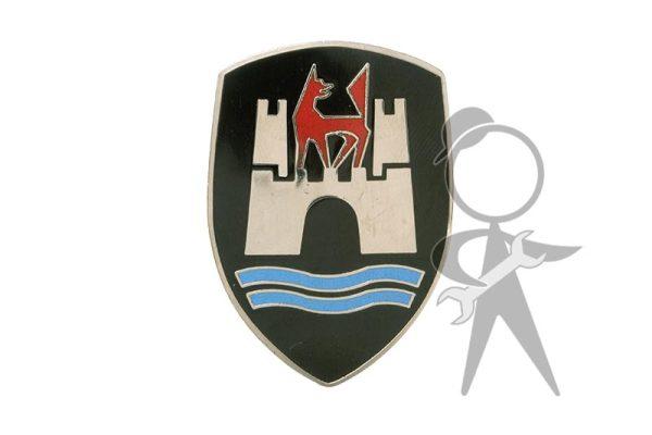 Hood Crest, Wolfsburg, Black, w/o Base - 113-853-621 B