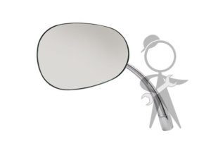 Mirror, Side View, Pear Shape, Left - 113-857-513 A