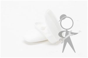Coat Hook, White, Pair - 113-857-637 WH PR
