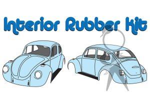 Interior Rubber Kit, Beetle, Man Trans - 113-860-068