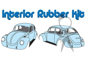 Interior Rubber Kit, Std Bug, Man Trans - 113-860-069
