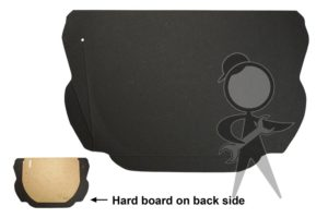 Trunk Liner, Black Hardboard, Lower - 113-863-505 B GR