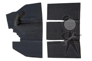 Floor Mat Set, Rubber, Overall Style F/R - 113-898-703 A