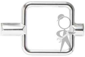 Square Chrome Trim For Gas Gauge - 113-919-205