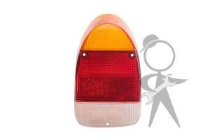 Lens, Tail Light, Amber/Red/White, Left - 113-945-241 B