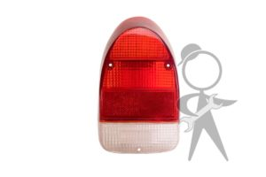 Lens, Tail Light, Red/White, Right - 113-945-242 A