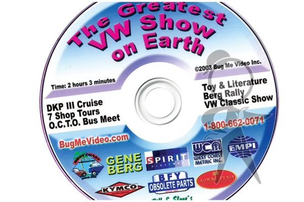 BUG ME DVD, VW Events/Clubs/Shows - 113-BMD-SHO