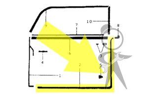 Seal, Door, Right - 141-831-732 A