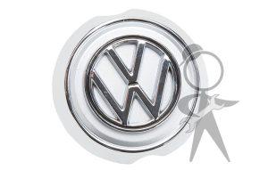 Front Nose VW Emblem w/Base Plate - 141-853-601 B ST