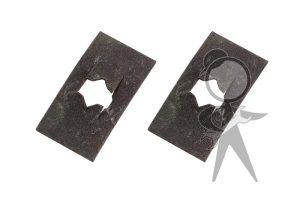 Nose Emblem Clamp Plate, Pair - 141-853-611 PR