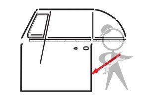 Seal, Door, Left - 151-831-721 D BR