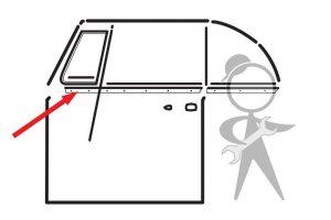 Scraper w/Aluminum Molding, Left Door - 151-837-475 D GR