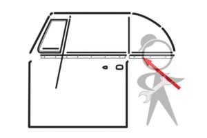 Scraper w/Aluminum Molding, L Qtr Wdw - 151-847-345 B GR
