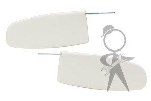 Sunvisor, White Vinyl, Bug Sdn & CV, Pr - 21-2014