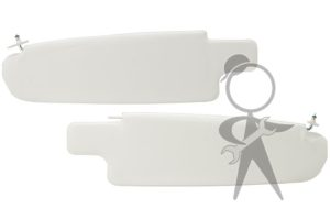 Sunvisor, White Vinyl, Bus, Pair - 21-2121