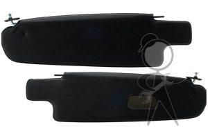 Sunvisor, Black Vnl w/Mirror, Bus, Pr - 21-2123-211