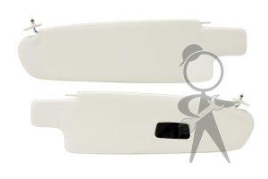 Sunvisor, White Vnl w/Mirror, Bus, Pr - 21-2123-215