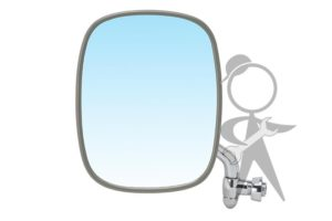 Mirror, Side View, Left, Stainless Steel - 211-857-513 F SS