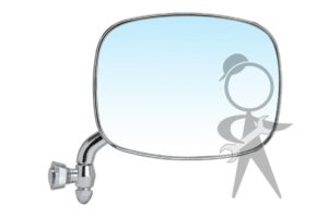 Mirror, Side View, Right, Chrome - 211-857-514 F ME