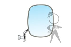 Mirror, SideView, Right, Stainless Steel - 211-857-514 F SS