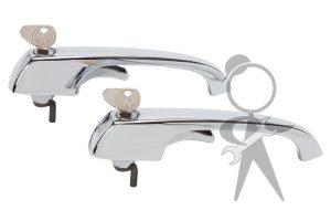 Door Handles w/Matched Keys, Pair - 211-898-205 N GR