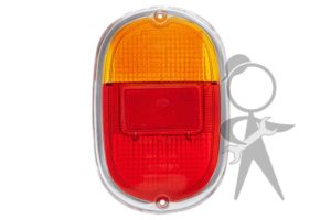 Lens, Tail Light, Amber/Red - 211-945-241 D