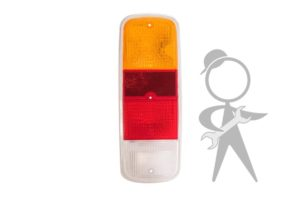 Lens, Tail Light, Amber/Red/Wht, OEM BR - 211-945-241 R BR