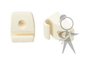 Clip, Sunvisor, White, Pair - 251-857-561 A WHPR