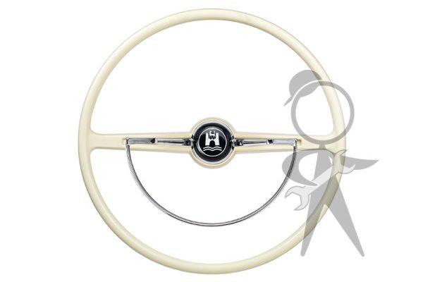 Steering Wheel, Complete, Ivory - 311-498-651 D IV