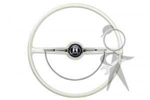 Steering Wheel, Complete, White- 311-498-651 D WH
