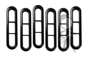 Vent Trim, Rear, Black, Set of 6 - 311-819-467 BK ST