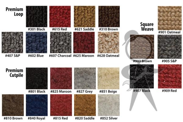 Carpet Set, 7pcs w/Heater Grommets, Sdn - 34-F1115-628