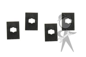 Engine Lid VW Script Clamping Plt, 4 pcs - 343-853-615 ST