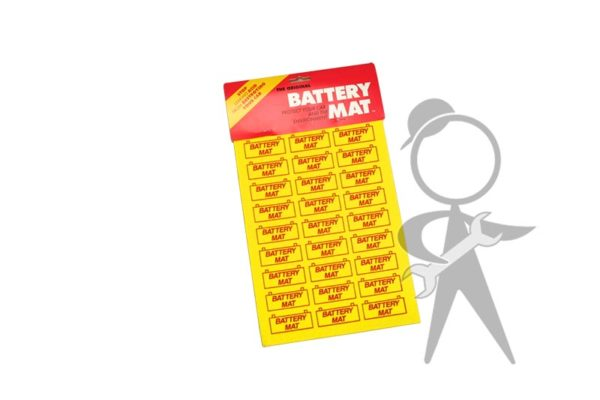 "Battery Mat 12""L x 8"", Yellow - ZVW-915-991 YE"
