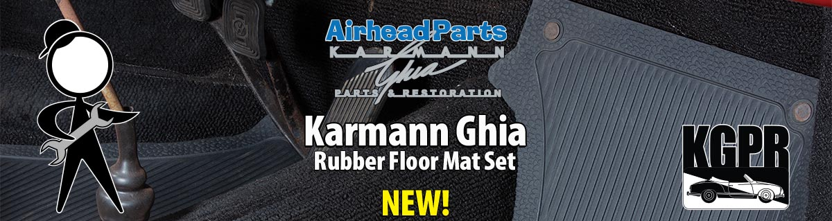 karmann ghia rubber floor mats
